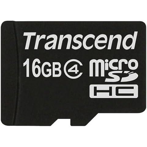 Transcend-Tarjeta micro sd de 16 GB clase 4 ts16gusdc4 para Motorola RAZR V8 ², transparente