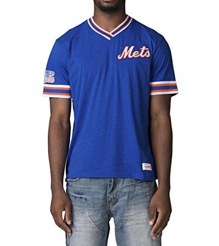 Mitchell & Ness New York Mets MLB Herren Overtime Win Vintage Tee 2.0, Herren, Blau, XLarge - Ness Throwback Mitchell