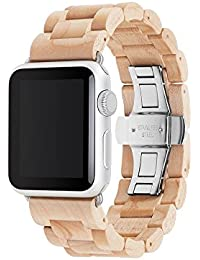Accesorios Wearables Woodcessories EcoStrap Apple Watch Band 38mm, maple plata