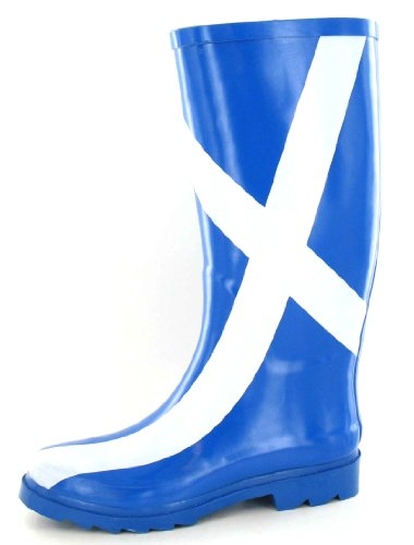 Scottish Flag (Funky Ladies Scottish Flag Print Damen Gummistiefel Regen Stiefel Festival Gummistiefel (6 UK))