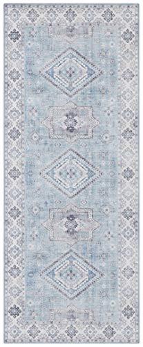 Nouristan Orientalischer Vintage Teppich Gratia Briliantblau, 80x200 cm