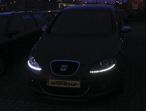 AutoStyle LED-Streifen, Tagfahrlicht-Set, Weiß, 2x35cm
