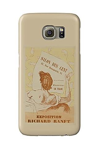 Salon des cent - Exposition Richard Ranft Vintage Poster (artist: Richard Ranft) c. 1894 (Galaxy S6 Cell Phone Case, Slim Barely There)