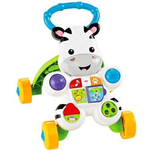 Fisher-Price Zebra Primi Passi Spingibile, Giocattolo Elettronico Educativo con Musica e Suoni, Adatto per Bambini dai 6 Mesi, DLD80