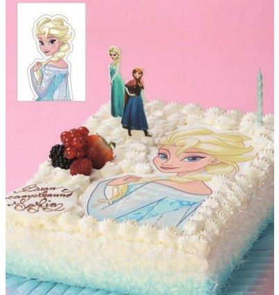Maxi Disque azyme comestible Reine des neiges ELSA pour décoration de gâteau - décoration gateau reine des neiges