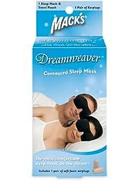 Macks - Masque Visage pour Dormir + 1 paire de Bouchons d'Oreilles