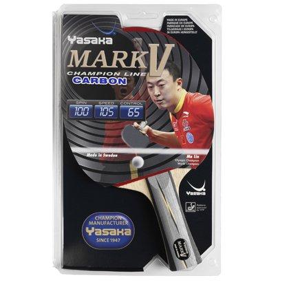 Haarschere Yasaka Mark V Carbon Komplett Fledermaus (V Tischtennis-mark)