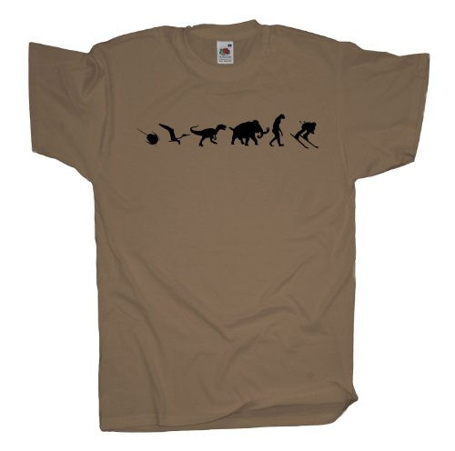 Ma2ca - 500 Mio Years - Skifahrer Ski T-Shirt Khaki