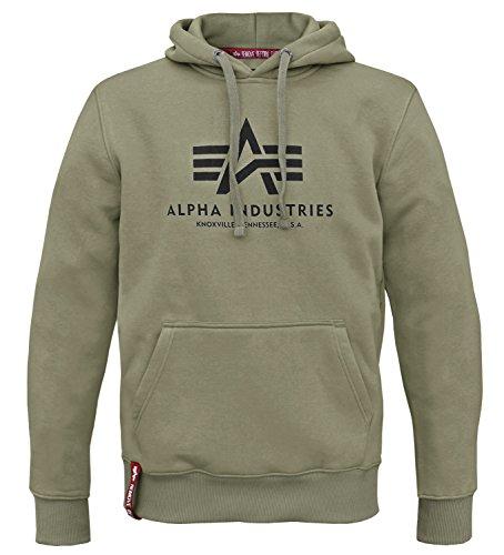 Alpha Ind. Basic Hoody Pullover oliv - L