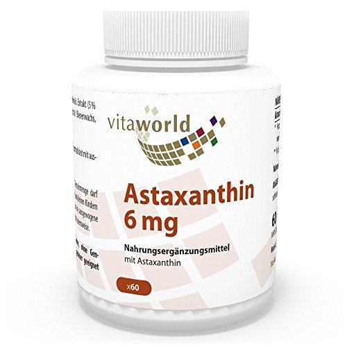 Astaxanthin 6mg 60 Kapseln in Öl (Gelatinekapseln) Vita World Apotheken Herstellung - Haematococcus pluvialis Extrakt