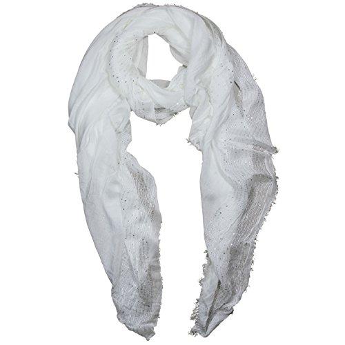 FERETI Bufanda Pañuelo Lentejuelas Mujer Blanco Bordado Con flecos Fulares Primavera Pastel Chal Mujeres Cuello Cabesa