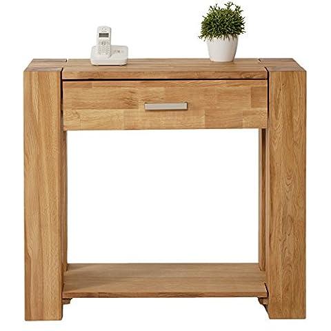SIT-Möbel 1684-01 Telefontisch Zeus, 90 x 40 x 78 cm, massiv wildeiche, wildeichefurnier geölt