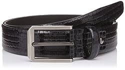 Peter England Mens Leather Belt (8907495895222_RL31791433_Medium_Black)