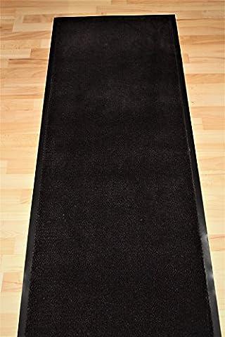 Fancymats® Large Heavy Duty Brown/ Black Door Barrier Mat Commercial, House Runner PVC Backing