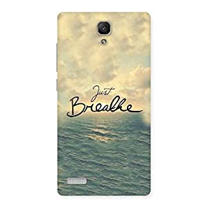 NEO WORLD Remarkable Just Breath Back Case Cover for Redmi Note Prime