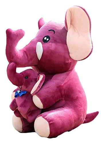 Good Night Dessin animé animaux maman et fils éléphants en peluche jouets, cadeau pour Noël