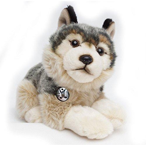 Wolf Welpe KIM liegend 28 cm Plüschtier von Kuscheltiere.biz