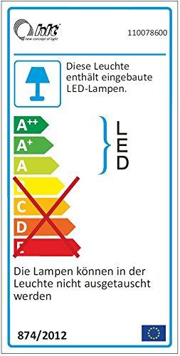 trendteam BM Highboard Wohnzimmerschrank | Nussbaum Satin | Dunkelbraun  | 160 x 137 cm | Inkl. LED Beleuchtung - 2