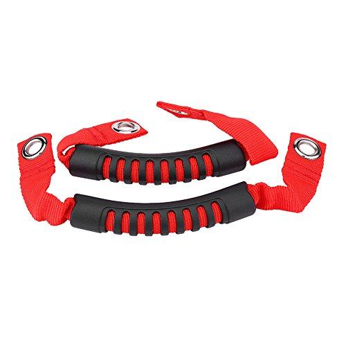 Preisvergleich Produktbild qiilu Videoleuchte KFZ-Rücksitz Rücken Kopfstütze Grab Griff Set mit Loch