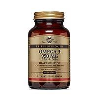 المكمل الغذائي اوميجا 3 من سولجار، 950 ملغ، 50 كبسولة جيلاتينية