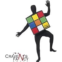 Disfraz Unisex Tamaño Adulto Unitalla de Cubo Rubik