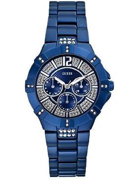 Guess Damen-Armbanduhr Analog Quarz Silikon W11624L7