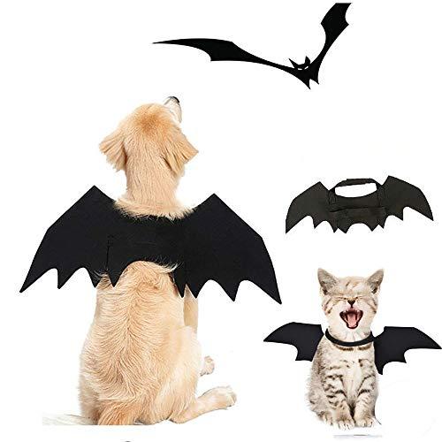 Für Kostüm Menschen Dog Cute - Halloween Funny Pet Dress, Hundekostüm Cute Bat Wings Kostüm, Cute Dog Kostüm für Party Dekoration,L