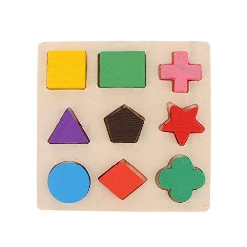 IPOTCH Intelligenz-Trainings-Spielzeug-Puzzlespiel-Bausteine DIY Steckpuzzle Mit 9 Geometrisch Blöcke Für Kleines Kind, Haustier