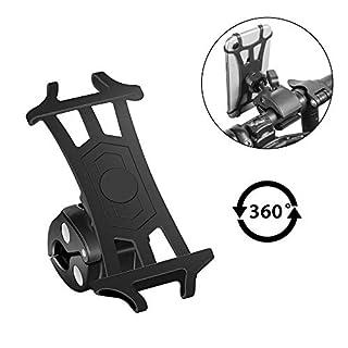 Newdora Handyhalterung Fahrrad Fahrradhalterung Handyhalter für iPhone X/8/7/6 Plus, Samsung Note 9 & alle 3,5-5,5 Zoll Handys, Universal Silikon Verstellbarer Handyhalter für Motorrad (Schwarz)