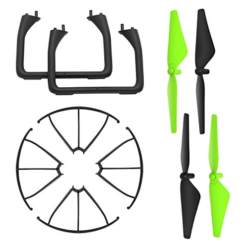 Potensic Propellers 4 Blades + 2 Tripod + 4 Frame Protectors for Drone U42 Quadcopter Quadcopter