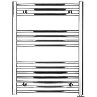 anapont Electric Towel Rail, Chrome, Bent, Towel Rail, Towel Dryers - 775h x 500b
