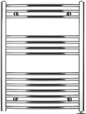 anapont Radiador Toallero Eléctrico, Cromado, Curva, Disponible en Diferentes Tamaños, Toallero, Secador de Toalla