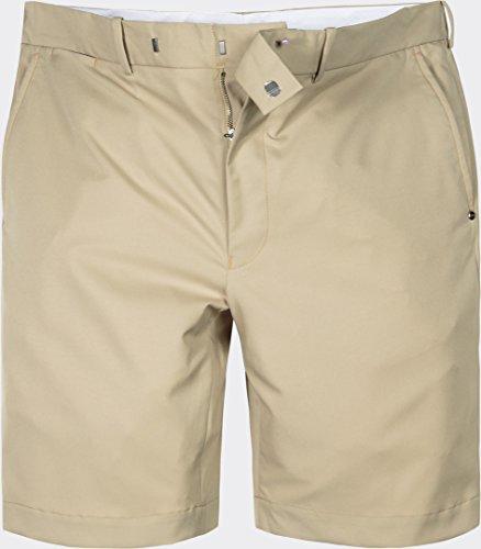 Ralph Lauren Golf Herren Bermuda-Shorts Mikrofaser Kurze Hose Unifarben, Größe: 34, Farbe: Beige (Lauren Ralph Stretch Hosen)