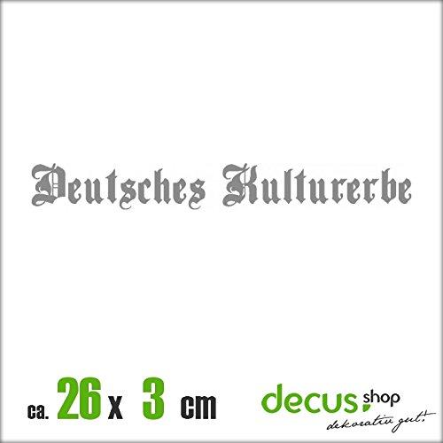 DEUTSCHES KULTURERBE XL 1671 // Sticker OEM JDM Style Aufkleber (Grau)