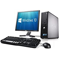 WiFi enabled Complete set of Dell OptiPlex Dual Core Windows 10 Desktop PC Computer (Renewed)