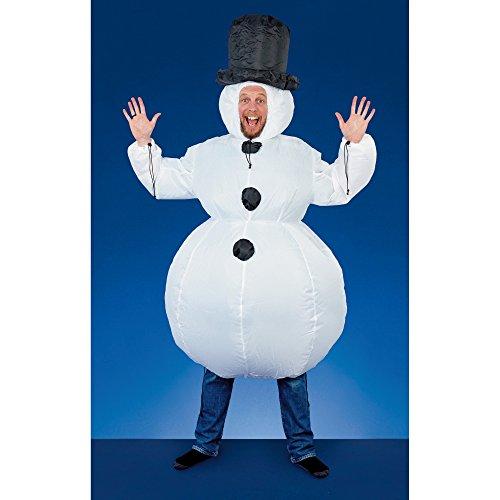 Christmas Shop - Disfraz hinchable tema Navidad de uso unisex (Talla Única/Muñeco de Nieve)