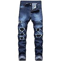 Geili Herren Jeans Hose Lang Jeanshosen für Männer Regular Fit Stretch Destroyed Löchern Jeans Vintage Used Look... preisvergleich bei billige-tabletten.eu