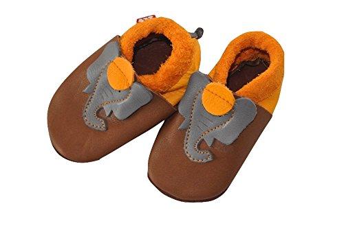 Pololo  Jonathan, Chaussures souple pour bébé (garçon) Marron - Marron