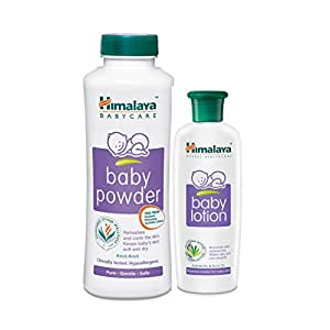 Himalaya BabyCare Powder, 400g with Lotion, 200ml