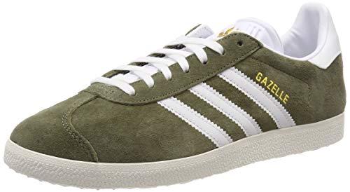 adidas Gazelle W, Scarpe da Ginnastica Donna, Verde (Raw Khaki/Ftwr Chalk White), 42 2/3 EU