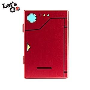 FUNLAB Prämie Game Card Case für Nintendo Switch, tragbar und dünn, Aluminium Schutzhülle Aufbewahrungsbox Spiele Tasche für 6 Spiele –Rot
