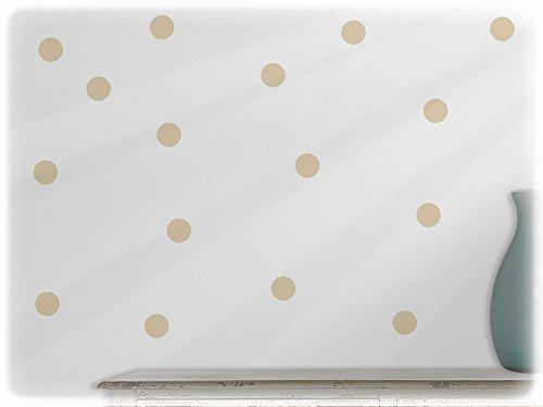 wandfabrik - Wandtattoo - 54 schöne Polka dots in beige (Fliese Glas Brown)