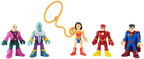 Imaginext BCV33 DC Super Freunde Helden und Bösewichte Actionfiguren - Superman Flash Wonder ()