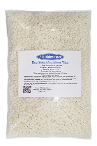 Mouldmaster soy container candle wax pellets 5 kg, colore: panna/bianco sporco