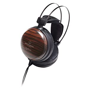 Audio-Technica ATH-W5000 Raffinato Series High-Fidelity Closed-Back Headphones - Striped Ebony