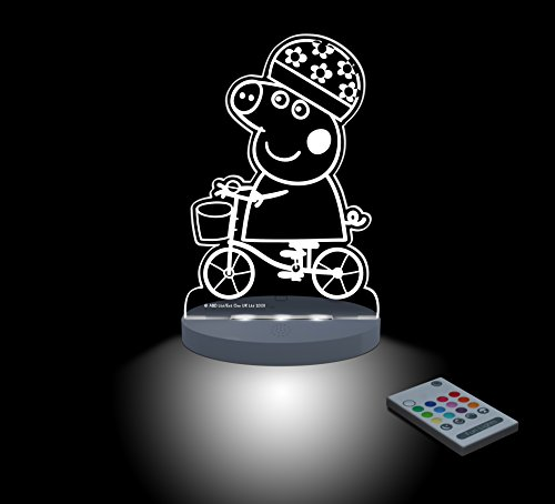 FUNLIGHTS Peppa Pig Bici Lampe Baby LED mehrfarbig mit Fernbedienung. Wählen Sie die Farbe, Intensität, Timer, Regenbogen und vieles mehr! (Schneefräse Lampe)