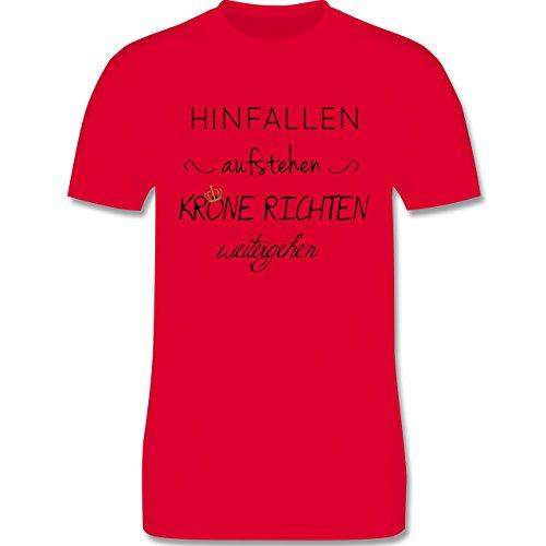 Statement Shirts - Krone richten und weiter gehen - Herren Premium T-Shirt Rot
