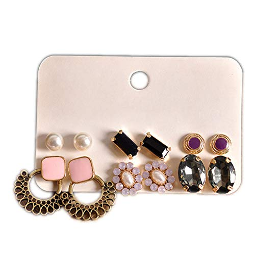 The Fashion Gorgeous Damen-Ohrringe, für Geburtstage, Partys, Perlen, Nageldesign, Pink/Schwarz (Helix Leder Jacke)