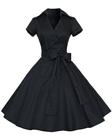 Robe Noir Vintage - YiLianDa Rétro Vintage Années 50 's Style