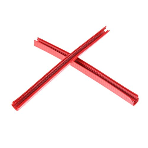 2 Stück langlebiger Skateboard Deck Schutz Longboard Deck Kantenschutz rot